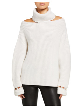 Lara Cold Shoulder Pearl Pullover by Alice + Olivia