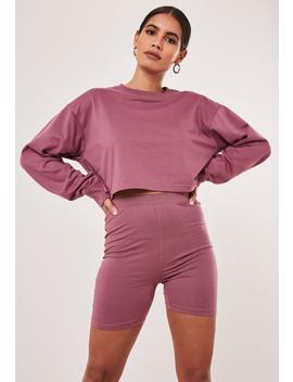 Purple Crop Sweatshirt by Missguided