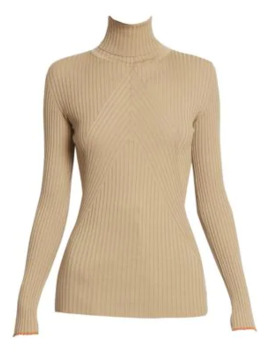 Slim Ribbed Wool Turtleneck by Victoria Beckham