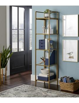 Better Homes & Gardens Nola Narrow Bookcase, Gold Finish by Better Homes & Gardens