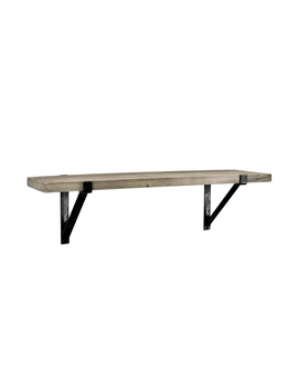"""Better Homes & Gardens 23\"""" Wood Shelf With Metal, Rustic Gray Finish by Better Homes & Gardens"""