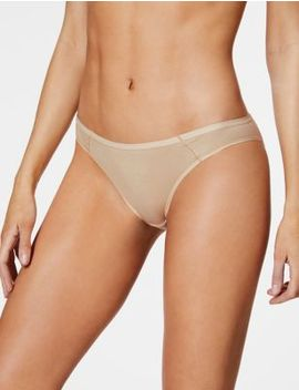 5 Pack Supima® Cotton Blend No Vpl Bikini Knickers by Marks & Spencer