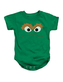 Sesame Street   Oscar Face   Infant Snapsuit   24 Month by Trevco