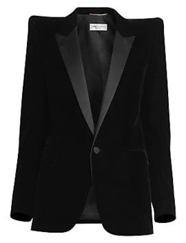 Velvet Tuxedo Blazer by Saint Laurent