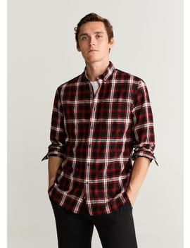 Geruit Katoenen Slim Fit Overhemd by Mango