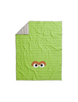 Sesame Street All Eyes Oscar The Grouch Full Queen Quilt by Crate&Barrel