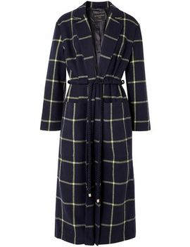 Anya Tie Front Wool Blend Coat by Mother Of Pearl
