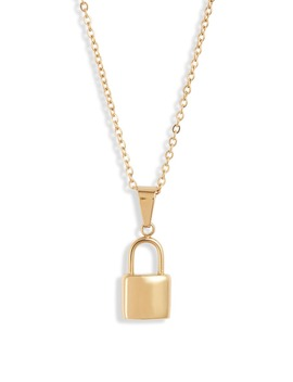 Uma Lock Pendant Necklace by Ellie Vail