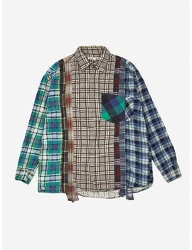 Rebuild 7 Cuts Flannel Shirt Size Large 6   Assorted by Needles