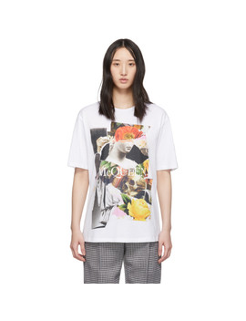 White Collage T Shirt by Alexander Mcqueen