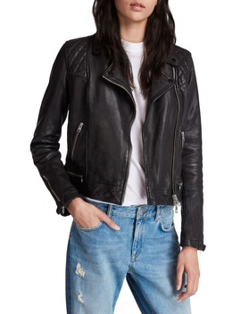 Conroy Leather Biker Jacket by Allsaints