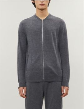 Aiden Melange Pattern Wool Cardigan by Reiss