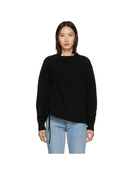 Black Drawstring Jumper by Mcq Alexander Mcqueen