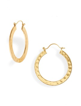 Hammered Hoop Earrings by Madewell