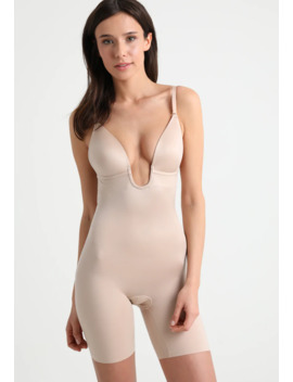 Suit Your Fancy Plunge Low Back Mid Tigh   Body by Spanx
