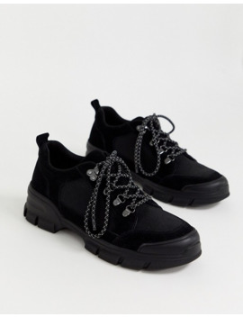 Office Hiker Trainers In Black by Asos