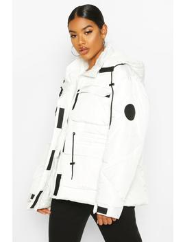 Pocket Detail Sporty Parka by Boohoo