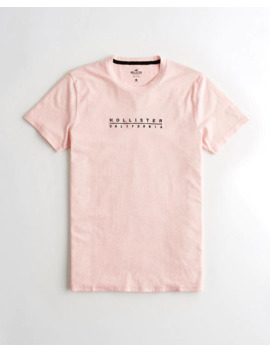 Embroidered Logo Graphic Tee by Hollister