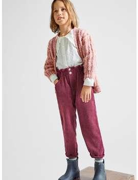 Paperbag Corduroy Pants by Zara
