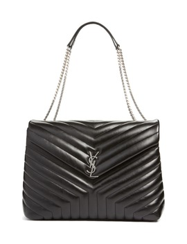 Monogram Quilted Leather Slouchy Shoulder Bag by Saint Laurent