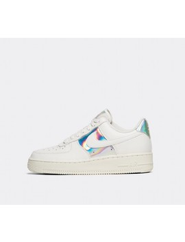 Womens Air Force 1 Low Trainer | Summit White / Metallic Silver by Nike