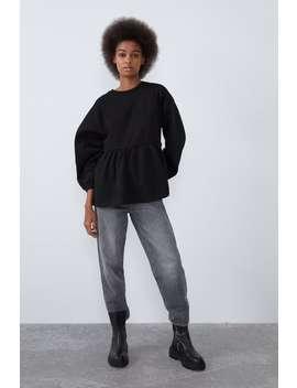 Sweatshirt Met Peplum by Zara