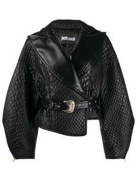 Quilted Faux Leather Jacket by Just Cavalli