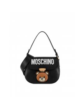 Calf Leather Hidden Lock Teddy by Moschino