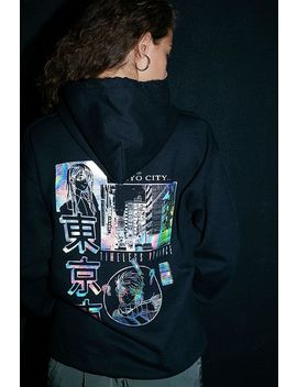 Uo Reflective Graphic Skate Hoodie by Urban Outfitters