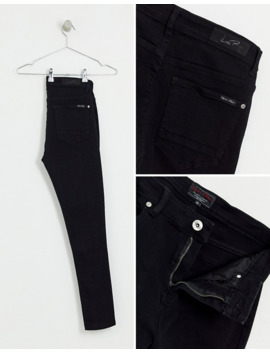 Liquor N Poker Jeans With Neon Piping In Black by Liquor N Poker