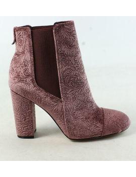 Sam Edelman Womens Case Mauve Wine Embossed Velvet Chelsea Boots Size 5 (593021) by Sam Edelman