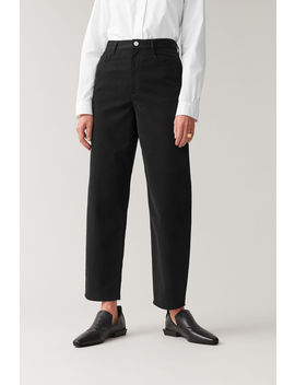 High Waisted Cotton Pants by Cos