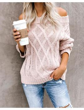 Get Together Off The Shoulder Sweater   Blush by Vici