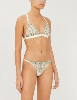 Moa Lace Triangle Bra by Bordelle