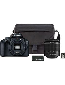 Aparat Foto Dslr Canon Eos 4000 D,18.0 Mp, Negru + Obiectiv Ef S 18 55mm F/3.5 5.6 Iii Negru + Geanta + Card De Memorie 16 Gb by Canon