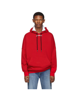 Red Logo Hoodie by Palm Angels