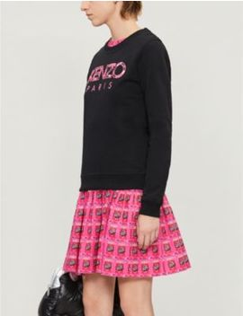 Paris Logo Appliquéd Cotton Jersey Sweatshirt by Kenzo