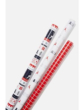 Kids Gift Wrap 3 Pack by Cotton On