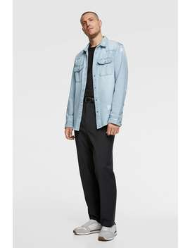 Sovracamicia Denim Strappi by Zara