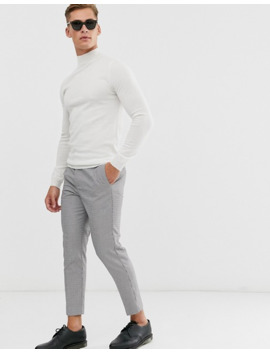 Asos Design Muscle Fit Merino Wool Turtleneck Sweater In White by Asos Design