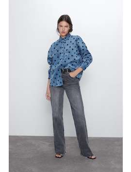 Printed Needlecord Shirt by Zara