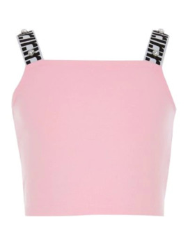 Girls Pink Ri Strap Cropped Top by River Island