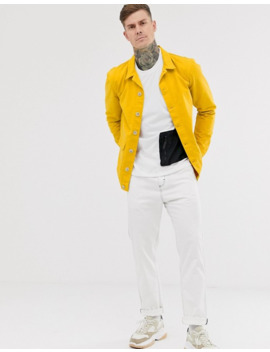 Boohoo Man Twill Shacket With Double Pockets In Mustard by Boohoo Man
