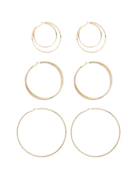 Layered Hoop Earring Set by Forever 21
