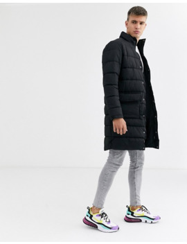 New Look Longline Puffer Jacket In Black by New Look
