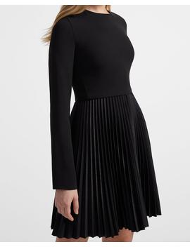 Crepe Pleated Dart Dress by Theory