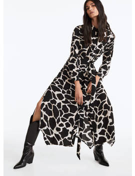 Spotted Print Shirt Dress by Uterqüe