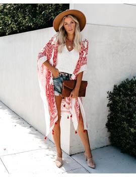 Anja Tassel Kimono   Cherry by Vici
