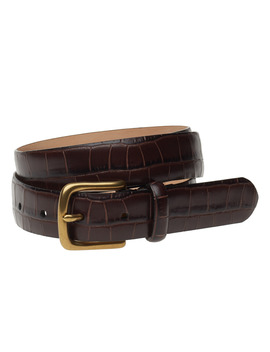 Crocodile Embossed Belt by Polo Ralph Lauren