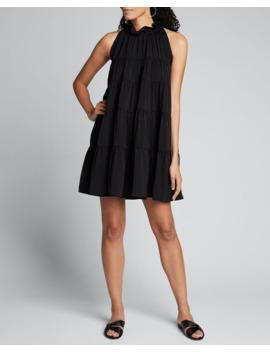 billy-tiered-high-neck-sleeveless-dress by rhode